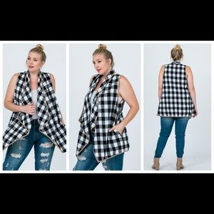 Plaid vest - perfect for fall/winter